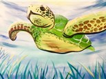 """Swimming Sea Turtle"""