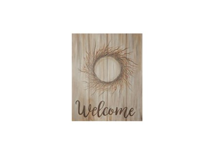 Color Me Canvas - Welcome Berry Wreath
