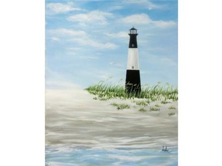 Tybee Lighthouse - 16x20 canvas
