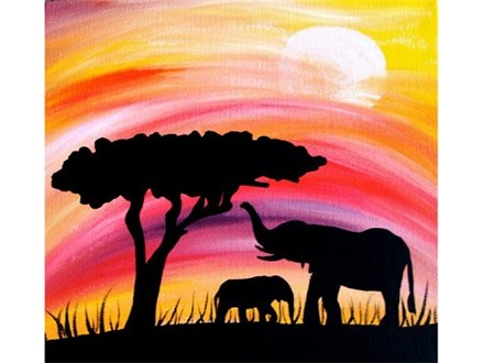 Sunset Mama Family Canvas