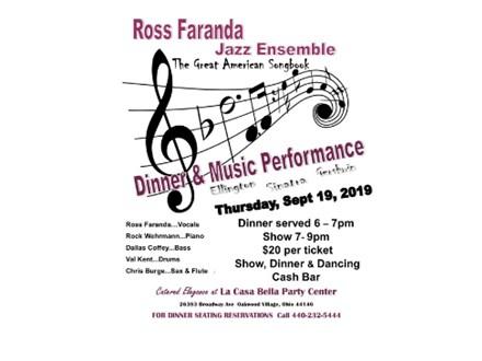 Ross Faranda Jazz Ensemble - Sept. 19th