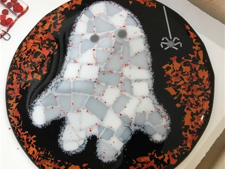 Fused Glass Trick or Treat Bowl Class for Kids 10/1 4pm
