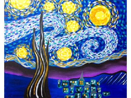"Paint & Sip ""Starry Eve"""