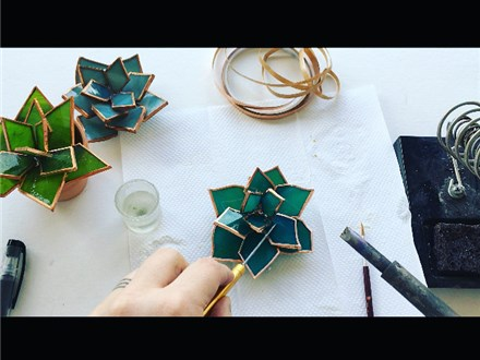 DIY Stained Glass Succulent