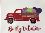 Adult Pottery Painting - Love Truck - 02.03.17 - Evening Session