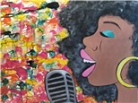 Paint Your Own Canvas Pack - Pop Singer