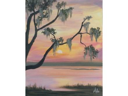 Spanish Moss Sunset - 16x20