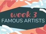 Summer Camp Week 3: FAMOUS ARTISTS (June 17th - 21st)