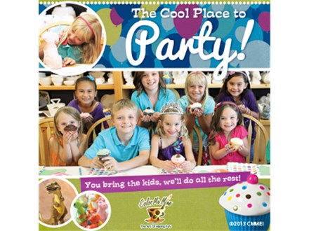 Color Me Mine Party - Silver Party Package:  for younger kids