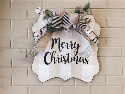 Nov. 1st Merry Christmas Door Hanger