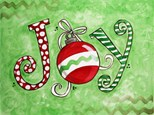 Christmas Joy Canvas Class at CozyMelts