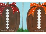 Fall Ball Pumpkin - Choose your colors for ribbon / can be any high school, college or NFL team. Please specify colors/team upon registration.