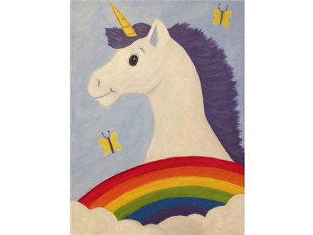 Unicorn  ages 6+  *parents are required to stay and assist children between ages 6-8. Please do not bring infants or children under the age of 6. Thank you.