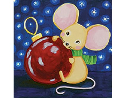 Kids' Canvas Class! Christmas Mouse! 12/8/18