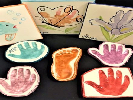 (Ages 0-3) Hand-Print Pottery Party