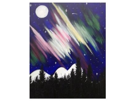 Northern Lights - Paint & Sip - Feb 24