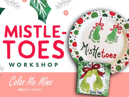MISTLETOES HOLIDAY PLATTER WORKSHOP