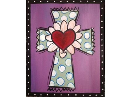 """""""Dotted Cross"""" - Choose your colors!"""