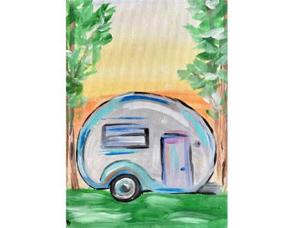 Let's Go Camping Kid Paint Class - Perry