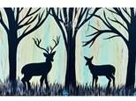 Deer Couple Paint Class at JUST TAP'D