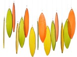 Fused Glass Windchimes - October