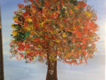 "Kids' Night ""Fall Tree"" Canvas (Fri. 10/23)"
