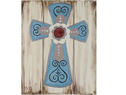 Canvas & Wine Night!  Rustic Cross! 11/28/16