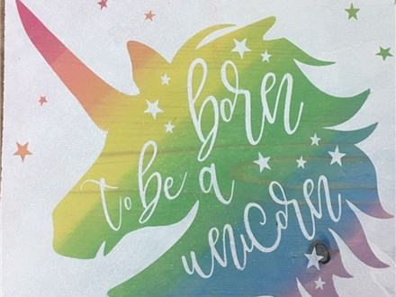 Kid's Board Art - Born to be a Unicorn -Afternoon Session - 08.16.17
