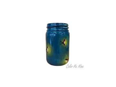 """"""" Happy Camper- Firefly Jar Mug"""" -at Color Me Mine - Aspen"""