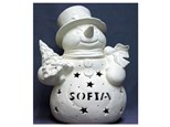 """order a large light-up carved (13"""") snowman with tree"""