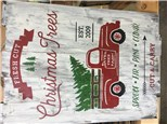 Lighted Christmas Truck w/tree Board