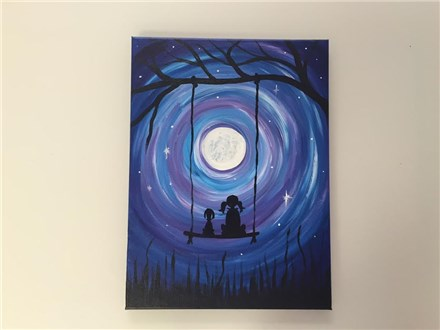 Moonlight Swing (adult) Canvas Class