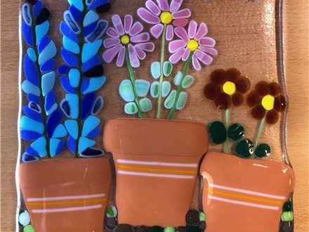 Glass Fusion Flower Garden Workshop - Mom & Me -Friday 3/23