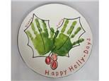 Handprint Plate - Holly-Days 12/09