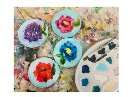 Flower Coaster Virtual Paint Class