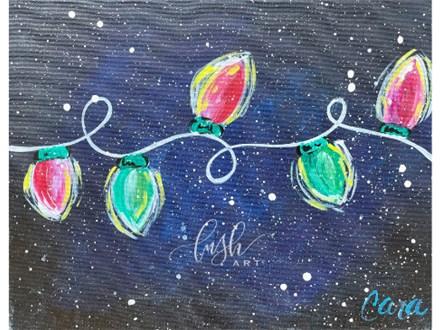Christmas Lights Kid Paint Class- WR