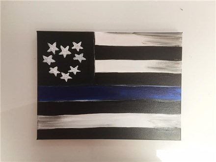 Flag of Remembrance (Fundraiser-Officer Landon Weaver) Adult Canvas