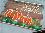 Fall Pumpkins Board Painting Class