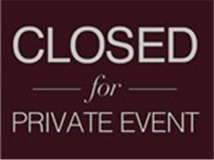 Private Event- No Class Tonight