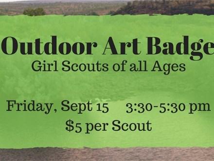 Outdoor Art Badge