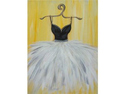 Elegant Dress - 12x16 canvas