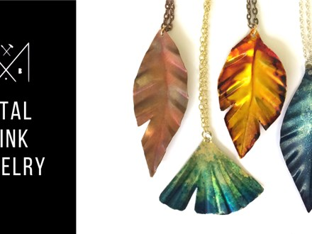 Metal + Ink Jewelry @ The Lauber