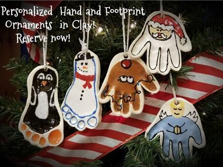 Clay Ornaments:  Register Here - November 15 - 6-9pm & Nov 29 - 10-9pm
