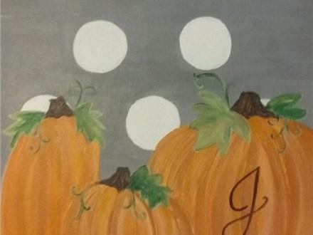 "Kids Night Out Canvas Night! ""Pumpkin Monogram"" Friday, November 11th 6-8pm"