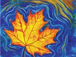 Canvas - Floating Maple Leaf - 11.27.18 - Afternoon Session