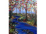 Meadow Stream - Canvas - Paint and Sip