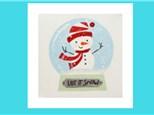 Kids Canvas - Snowman Snow Globe - Friday, December 7