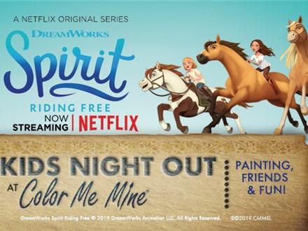 Kids' Night Out: SPIRIT - May 31 @ 6pm