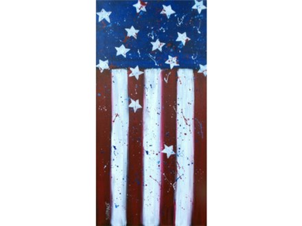 Stars and Stripes - 10x20 canvas