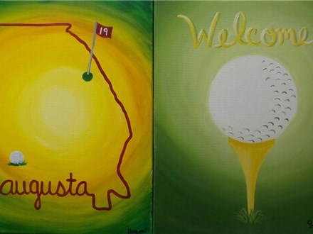 Augusta Golf Welome - paint your choice - stencil provided